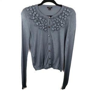 Ann Taylor MP petite button up cardigan sweater
